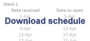 Download schedule here.